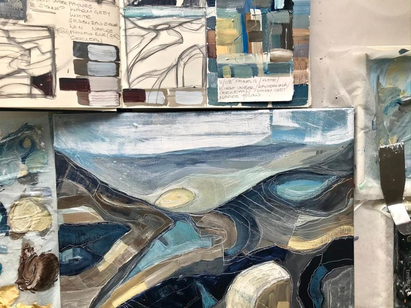 Layers in Landscape and In Paint