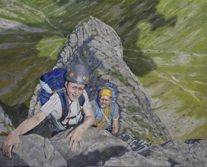 A portrait of Jason and Fraser on Tower Ridge