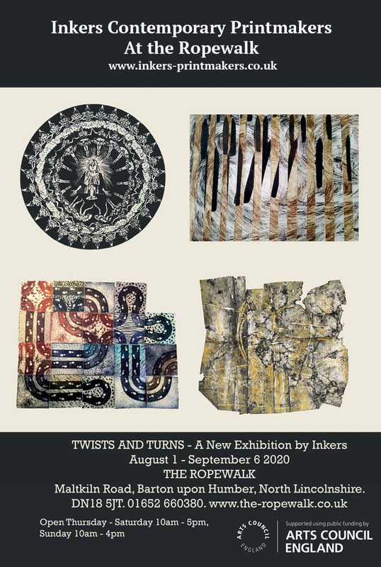 Inker's Contemporary Printmakers Exhibition  'Twists and Turns' at Rope Walk
