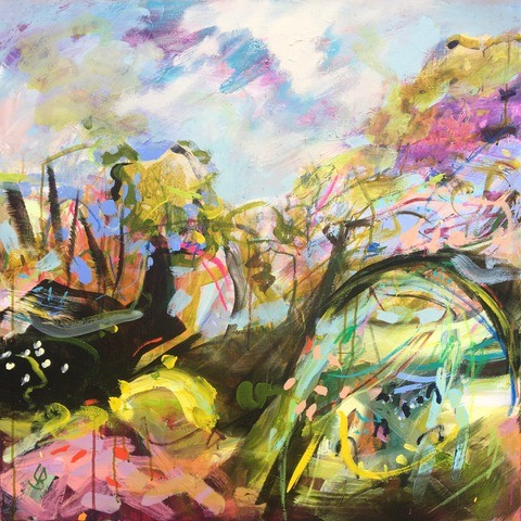 Nature's Playground, The Power of Nature Play expressed in paint and ceramics.